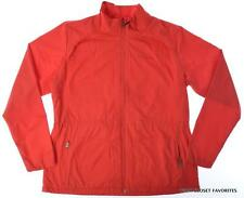 COLUMBIA Womens Fleece Lined Jacket size XL Red Warm Spring Fall Lightweight