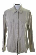 Levis Womens Shirt Blouse Size 18 Large Beige Cotton