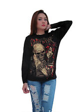 Bullet For My Valentine Skull Rock Band Music Womens Long Sleeve T-Shirt S,M,L