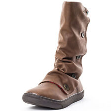 Blowfish Precise Womens Mid Boots Synthetic Leather Coffee Brown New Shoes
