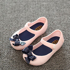 Wholesale New Jelly Shoes Cute Bow Toddler Girls Summer Soft Mini Flat Sandals