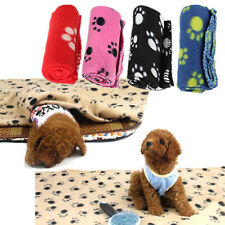 Newest 60*70CM Paw Print Pattern Pet Dog Cat Fleece Soft Blanket Bed Mat Cover
