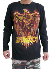 Lamb of God Flaming Eagle Metal Rock Band Mens Long Sleeve T-Shirt Black M,L,XL