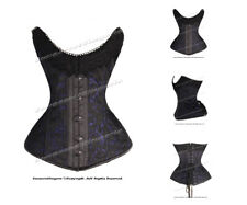 14 Full Steel Boned Heavy Lacing Satin Overbust Shaper Corset #9001-SA