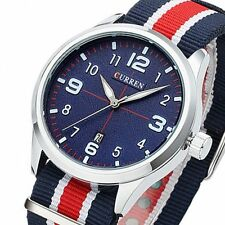 Curren Fashion Men's Nylon Band Sport Dial Analog Quartz Wrist Watches Casual