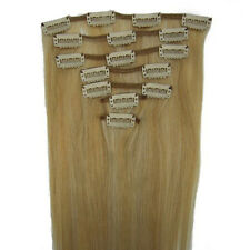 """15""""18""""20""""22"""" Clip In Extensions 100% Remy Real Human Hair #27/613 7PCS"""
