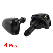 Plastic Window Windshield Wiper Water Sprayer Jet Washer Nozzle 4 Pcs Black