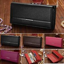 Women Ladies Clutch Long Purse Leather Wallet Card Holder Handbag Phone Bags