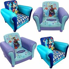 Childrens Disney Kids Frozen Anna & Elsa Mickey Mouse Cartoon UPHOLSTERED Chair