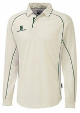 Surridge Premier Shirt Long Sleeve Sports Cricket Collared Shirts Tops UK