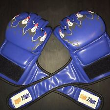 MMA UFC Boxing Grappling Sparring Fight Punch Training MMA Gloves Leather Pair