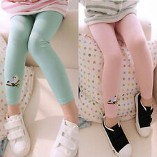 Fall/Winter Panty Baby Girl Leggings Pants Toddler Kids Embroidery Bird Trousers