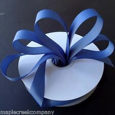 SMOKE BLUE Grosgrain Ribbon ASSORTED WIDTHS For Sewing & Decorating