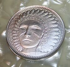 2010 UNA 10 AMEROS~INDIAN CHIEF Silver 1/2 OZ Satin Finish SCARCE!