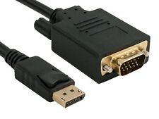 AYA Displayport Male to VGA Male (15-Pin) 28AWG Cable Gold Connectors 3Ft - 15Ft