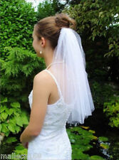 Fashion New 1T Short Wedding veil White Bead veil Bridal Veil With comb