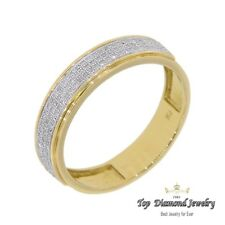 mens diamond .26 carats 10K yellow gold ring wedding band dress anniversary mans