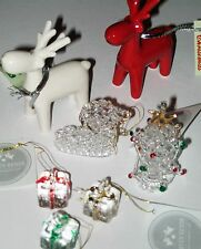 Christmas decorations Ceramic and glass hanging ornaments