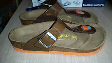 BIRKENSTOCK - GIZEH - BROWN WITH ORANGE SOLES RRP $127 SAVE $27
