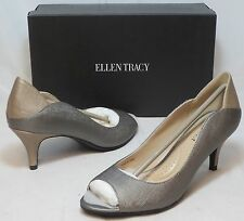 ELLEN TRACY Women's Sidney Leather Pump - Pewter - SZ 6.5 Only - NIB - MSRP $79