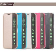 PU Leather Flip Stand LED Window Cases Cover for Samsung Galaxy SS S6 Edge Plus+