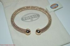 Fossil Brand Cuff Bangle Open Bracelet Silver / Rose Gold $58 NWT (CHOOSE ONE)
