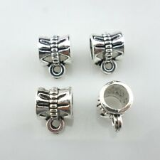 40/120/600pcs Tibetan Silver Spacers Beads Connectors Charms Bails DIY Jewelry