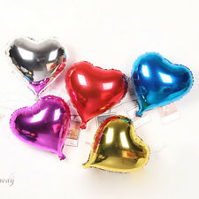 5/10pcs Multicolor 18'' Heart-shaped Mylar Balloon Party Wedding Birthday Decor