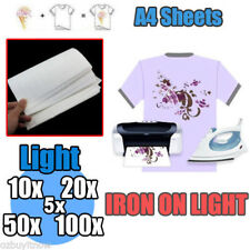 10/20/50/100 sheets A4 Iron Heat Transfer Paper For The Light Cotton T-shirt