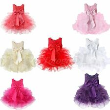 Newborn Baby Girl Communion Tutu Dress Holiday Wedding Birthday Xmas Party Dress