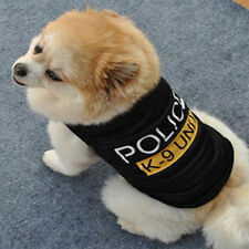 New Hot Dog Cat Vest Puppy T-Shirt Pet Clothes Black Police Summer Vest Cool Air