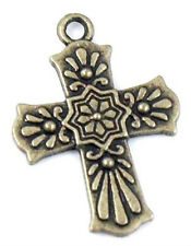 Wholesale 14/28Pcs Bronze Plated (Lead-Free)Cross Charms Pendant 20.5x29mm