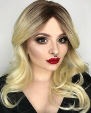 Human Hair Blend Long Wavy Nicole Celebrity Hairstyle Wig   6 Natural Shades