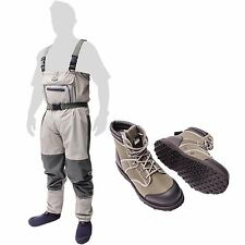 New Leeda Volare Stocking Foot Breathable Chest Waders + Volare Wading Boots