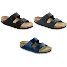 Birkenstock Arizona Sandals - black brown blue Birko-Flor - Soft Footbed