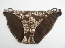 NWT Aeropostale Swim Swimsuit Bikini Bottom Juniors Tree Brown White Floral $27