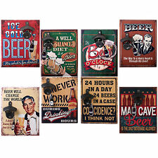 Retro Vintage Funny Beer Sign Plaque With Bottle Opener Shabby Chic Bar Man Cave