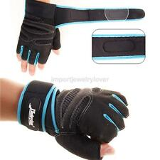 Weight Lifting Gym Fitness Body Building Gloves Training Padded Long Wrist Strap