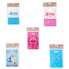 6pcs Plastic Loot Bags Baby Shower Gift Bags Christening Shower Favor Decoration