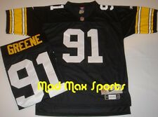 KEVIN GREENE Pittsburgh STEELERS Home Black NFL Premier THROWBACK Jersey Sz M-L