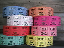 1000  50/50 DOUBLE STUB ROLL RAFFLE TICKETS