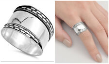 Sterling Silver 925 LADIES MEN'S HANDMADE BALI ROPE DESIGN BAND RING SIZES 5-13