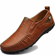 Mens Casual Leather Shoes Slip On Sneakers Loafers Moccasins Driving Shoes New