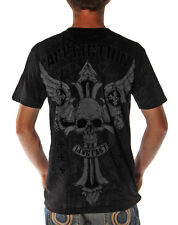 NEW Mens AFFLICTION Shirt Cross Skull CONCEPT Black S M L XL 2XL 3XL A12223 NWT