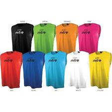 10 Mitre Football Training Bibs and FREE Storage Bag (Ideal for all Sports)