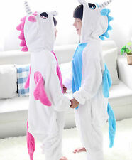 NEW Children Kid Pajamas Kigurumi Unisex Cosplay Animal Costume Unicorn Onesie