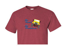 "Toyota FJ40 Landcruiser ""No Road No Problem"" Design Red T Shirt"