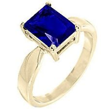 14K GOLD EP 4.5CT SAPPHIRE SOLITAIRE  RING sizes 5-10 u choose the size