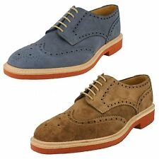 Mens Loake Calf Oiled Suede Full Brogue Lace Up Casual Suede Logan