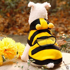 Hot Sale! Pet Cloth Yellow Bee Cosplay Funny Cool Cat Dog Cloth Warm Hoodie